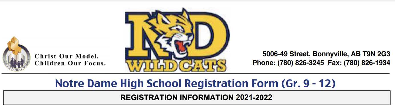 Grade 8 Students attending NDH Next Year Please Hand in your Registration Form before June 25th